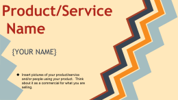 Product/Service Name {YOUR NAME}
