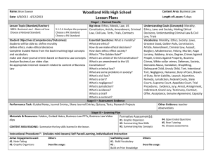 Woodland Hills High School Lesson Plans