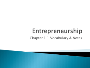 Chapter 1.1 Vocabulary & Notes