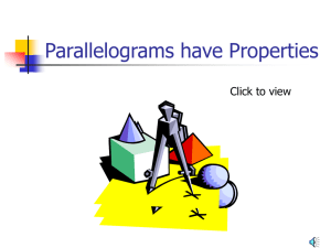 Parallelograms have Properties Click to view