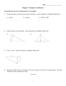 Chapter 7 Geometry Test Review