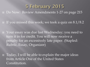 Do Now:  Review Amendments 1-27 on page 215
