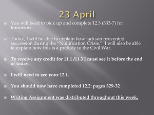 You will need to pick up and complete 12.3 (333-7)... tomorrow. Today, I will be able to explain how Jackson prevented