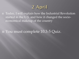 Today, I will explain how the Industrial Revolution