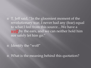 "T. Jeff said, ""In the gloomiest moment of the"