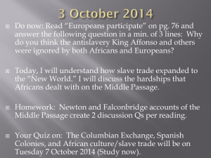 "Do now: Read ""Europeans participate"" on pg. 76 and"