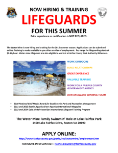 LIFEGUARDS FOR THIS SUMMER NOW HIRING & TRAINING