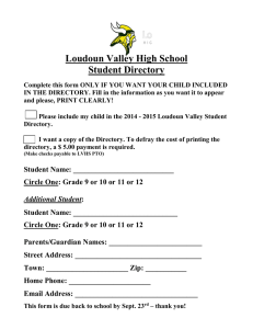 Loudoun Valley High School Student Directory