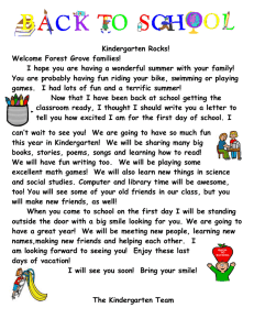 Kindergarten Rocks! Welcome Forest Grove families!