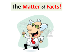 The Matter Facts! of