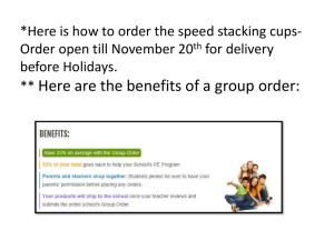 *Here is how to order the speed stacking cups- for delivery