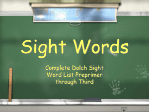 Sight Words Complete Dolch Sight Word List Preprimer through Third