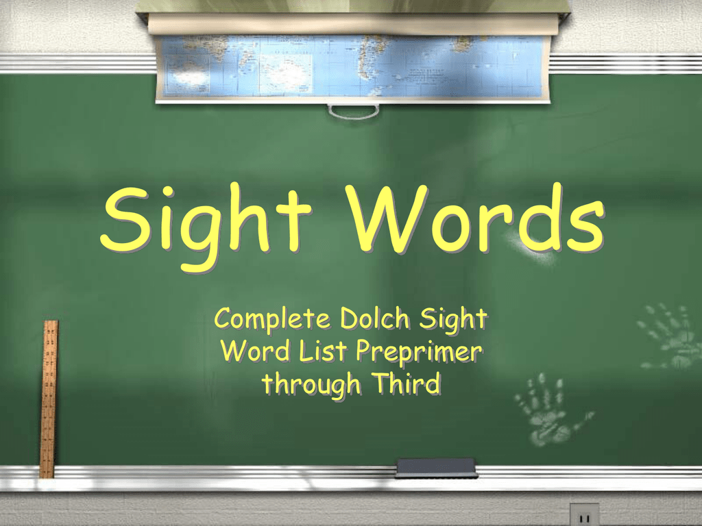 Sight Words Complete Dolch Sight Word List Preprimer through