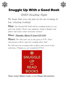 Snuggle Up With a Good Book RHES Reading Night fun, relaxing reading!