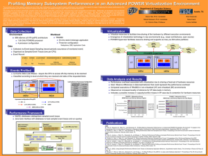 Profiling Memory Subsystem Performance in an Advanced POWER Virtualization Environment