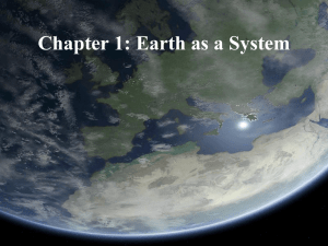Chapter 1: Earth as a System