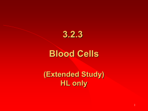 3.2.3 Blood Cells (Extended Study) HL only