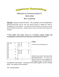 Welcome to Communications!!! 2015-2016 Mrs. Crawford