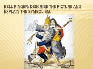 BELL RINGER: DESCRIBE THE PICTURE AND EXPLAIN THE SYMBOLISM.