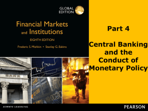Part 4 Central Banking and the Conduct of