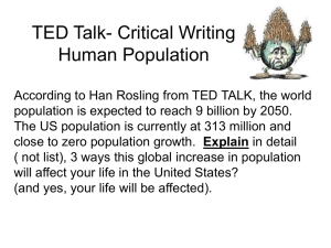 TED Talk- Critical Writing Human Population
