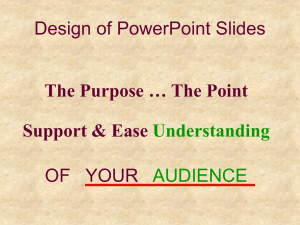 Design of PowerPoint Slides OF   YOUR Support & Ease