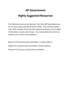 AP Government Highly Suggested Resources