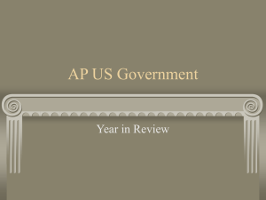 AP US Government Year in Review