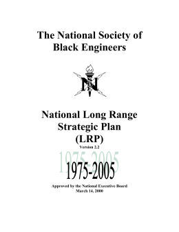 The National Society of Black Engineers National Long Range Strategic Plan