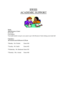 BWHS ACADEMIC SUPPORT