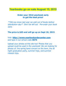 Yearbooks go on sale August 15, 2015