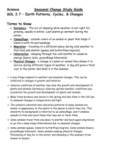 Science  Seasonal Change Study Guide