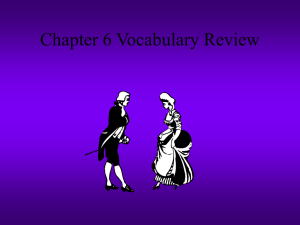Chapter 6 Vocabulary Review
