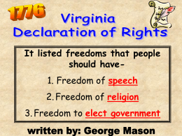 It listed freedoms that people should have- 1. Freedom of 2. Freedom of