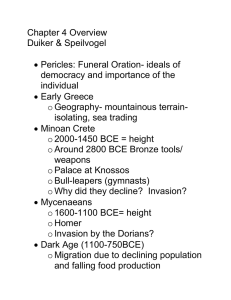 Chapter 4 Overview Duiker & Speilvogel   Pericles: Funeral Oration- ideals of