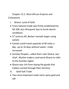 Chapter 15.2: West African Empires and Civilizations