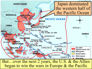 When the U.S. entered WW2 in late 1941, Japan dominated Germany controlled