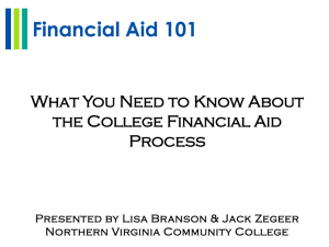 Financial Aid 101 What You Need to Know About Process