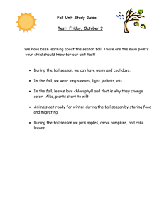 We have been learning about the season fall. These are... your child should know for our unit test!