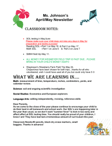 Ms. Johnson's April/May Newsletter