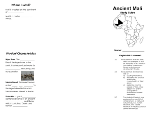 Ancient Mali Where is Mali? Physical Characteristics