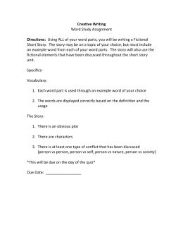Creative Writing Directions: Word Study Assignment