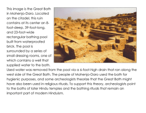 This image is the Great Bath in Mohenjo-Daro. Located