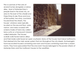 This is a picture of the ruins of alley. Most of Mohenjo-Daro's
