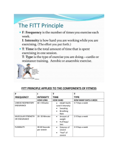 FITT PRINCIPLE APPLIED TO THE COMPONENTS OF FITNESS F I