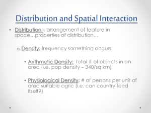 Distribution and Spatial Interaction