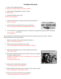 Civil Rights Study Guide