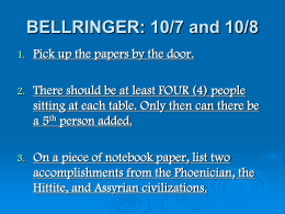 BELLRINGER: 10/7 and 10/8