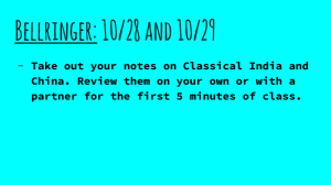 Bellringer: 10/28 and 10/29