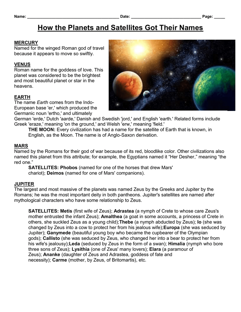 planets and their meanings - HD791×1024